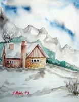 Casetta con neve