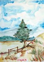 Paesaggio con albero