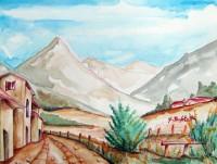 Paesaggio con monti