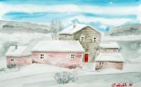 Borghetto con neve