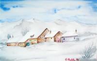 Borgo con neve