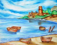 Spiaggia con tonnara all'Arenella