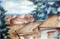 Veduta con tetti