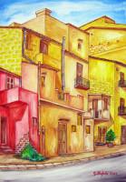 Scorcio via Vallone Ponte 2012 cm 39×57 | olio su tela