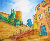 Dietro il castello di Salemi