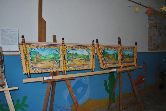 Mostra d'arte collettiva 2013-2014-Sponde di carretto siciliano dipinte a mano