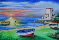 Tramonto a Sant'Elia 2016 cm 61×42 | olio su tela
